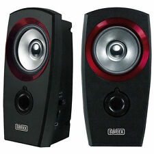 Sweex 2 x 1w Universal Desktop Pc Mac Computer USB 2.0 Stereo Speaker Set System