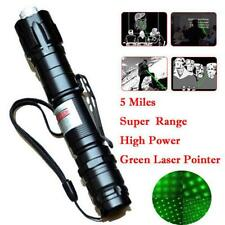 Powerful Green Laser Pointer Pen Beam Light Lazer 5mW 532nm+Battery+Charger