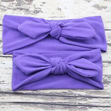 Headwear Print Parent Hair Band Baby Daughter Women Mum Mother Headband Bow Knot