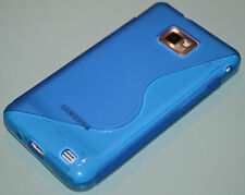 Blue S Line For Samsung Galaxy S2 i9100 TPU Gel Silicone Case Cover Skin
