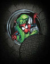 Marvel/DC: SPIDERMAN WITH LIZARD T-Shirt (L), (legends/figure)