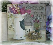 "~ ""JARDIN..."" Vintage Shabby Country Cottage Chic style ~ Wall Decor Sign ~"