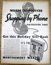 1934 newspaper Poster-like display ad with 1st INTERNET like SHOPPING (by Phone)