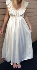 Vintage High Fashion Rare LANVIN 70's Peignoir Set Night Gown & Robe Stunning