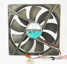 140mm 25mm New Case Fan 12V DC 153CFM CPU Computer Cooling 3Pin Ball Bg 381*