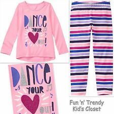 NWT Gymboree MIX N MATCH Girls Size Small 5-6 Dance Tee Top & Leggings 2-PC SET