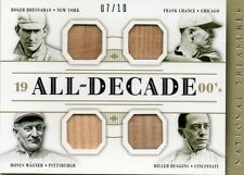 BRESNAHAN-CHANCE-WAGNER-MILLER 2014 NATIONAL TREASURES ALL-DECADE GAME-USED 7/10
