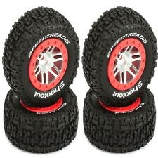 Dynamite SpeedTreads Shootout Tires / Wheels Mounted Front / Rear (4) Slash 2WD