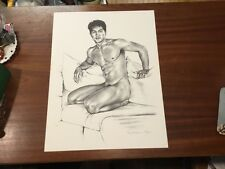 Douglas Simonson Nude Male Gay Pencil Drawing Signd Lithograph # 36/250