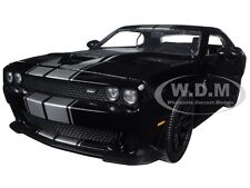 2015 DODGE CHALLENGER SRT HELLCAT BLACK/SILVER 1/24 DIECAST MODEL BY JADA 97600