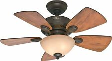 "HUNTER 34"" Watson ""New Bronze"" Ceiling Fan with Light Model #52090"