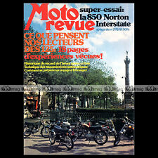 MOTO REVUE N°2178 MOTOBECANE 125 LT NORTON 850 COMMANDO INTERSTATE BOL D'OR 1974