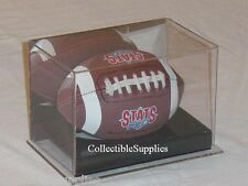 NEW DELUXE MINI FOOTBALL DISPLAY CASE HOLDER w/ MIRROR