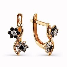 585/14ct Russian Rose Gold For Kids Womens Hoop Huggie Earrings Gift Boxed