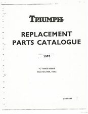 Triumph Parts Manual Book 1970 TIGER 100 T100C & TIGER 100 T100R