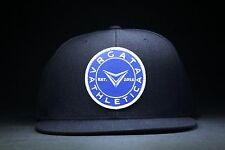 VRGATA ATHLETICA Lifestyle Patch Snapback 6 panel Cap Hat 80% Acrylic 20% Wool