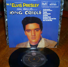 """* * RARE UNPLAYED MINT ELVIS """"KING CREOLE VOL.2"""" UK-only EP/PIC SLV: TROUBLE +5!"""