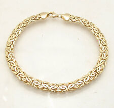 6mm Shiny Classic Byzantine Bracelet Lobster Lock Real 14K Yellow Gold QVC
