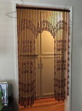 VINTAGE 70's RETRO MOD WOODEN BEADED CURTAIN Arched Design *Sale*