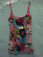 NWT Women's Hue Studio Mesh Cami Size Medium Multi #946A