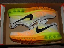 NIKE FLYKNIT AIR MAX WOMEN'S SZ 8 RUNNING SHOES 620659 100 NO BOX LID