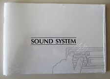 1995 95 1996 96 JAGUAR XJS SOUND SYSTEM OWNERS MANUAL COUPE CONVERTIBLE NEW