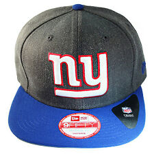 New Era NFL Classic New York Giants 9FIFTY Snapback Hat Grey Blue Cap