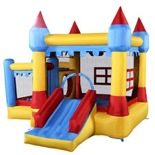 Goplus Inflatable Bounce House Castle Commercial Kids Jumper Moonwalk With Ball