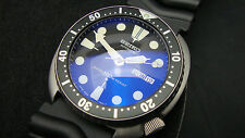 Vintage Seiko divers 6309-7040 TURTLE BLUE BUBBLE SAPPHIRE CRYSTAL JAN 1985 J33.