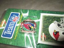 ARIZONA CARDINALS HAT PIN WITH CARD SHAPE LOOKING CHECK IT OUT