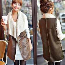 Women Faux Fur Body Warmer Vest Waistcoat Gilet Ladies Sleeveless Jacket Outwear