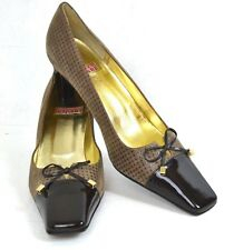 ELEGANT SANDRO VICARI BROWN GENUINE LEATHER SHOES SIZE 10.5 / 41 MADE IN ITALY