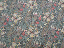William Morris Curtain Fabric 'Golden Lily Minor' 3.65 METRES Artichoke/Vanilla
