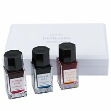 Pilot Iroshizuku Fountain Pen Ink 3 Mini Bottle Summer Set 15 mL Each, Momiji,