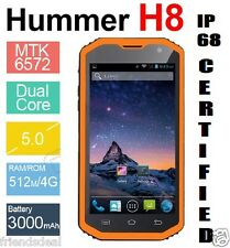 "5.0"" 3G HUMMER H8 Dual Smartphone WATERPROOG RUGGED TOUGH IP68 8MP 1,3 GHz ORGE"
