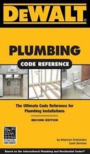 DEWALT PLUMBING CODE REFERENCE BOOK 2ND EDITION