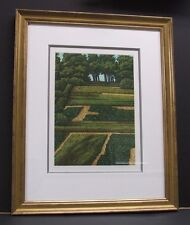 "Michael Rausch ""View of Garden"" Original Etching Signed"