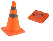 "18"" COLLAPSIBLE PULL OUT POP UP SAFETY CONES EMERGENCY ACCIDENT TRAFFIC ROAD"