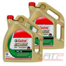 2x 5 L = 10 LITRES ENGINE OIL CASTROL EDGE FST 5W-30 BMW LONGLIFE-04