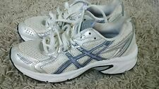 ASICS GEL BLACKHAWK 4 GREY SILVER PURPLE WHITE TRAINERS RUNNING SHOES SIZE 35,5