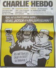 CHARLIE HEBDO N° 597 NOVEMBRE 2003 CABU MICHAEL JACKSON et le BEAUJOLAIS NOUVEAU