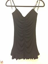 EEUC BCBG Max Azria Black Jersey Cocktail Dress SZ 2 Perfect For Latin Dance