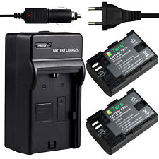 LP-E6 Charger +2X 2650mA Battery for Camera Canon EOS 5D Mark III 5DS 6D 60D 70D