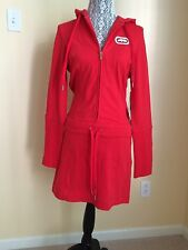 New Women  ECKO RED  hooded Sweatshirt Dress Size M