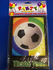 Soccer Party Ball Sports Banquet Birthday Thank You Notes Cards w/Envelopes