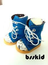 "BJD Yo-SD 1/6 Dollfie 13"" Effner 12"" Kish Doll Shoes BLUE Floral Boot"