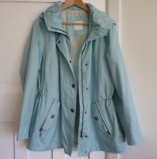 Immaculate Charles Vogele Ladies Pale Mint Raincoat/Jacket, Size EUR 44 (UK 16)
