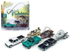 Gone Fishing 2017 Set of 3 1/64 Diecast Car Model Johnny Lightning JLBT001 B