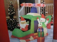 Airblown® Animated Helicopter Santa Christmas Gifts Snowman LED Inflatable 7' L