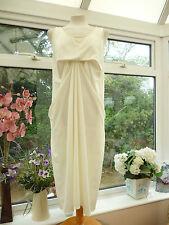 STUNNING NEW *JAMES LAKELAND* MADE IN ITALY CREAM HITCHED DRAPED DRESS Sz 12